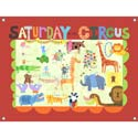Saturday At The Circus Stretched Art, Kids Wall Art | Neutral Wall Decor | Kids Art Work | ABaby.com