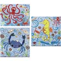 Sea Animals Stretched Art, Wall Art Collection | Wall Art Sets | ABaby.com
