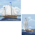 Sailing Stretched Art, Nursery Wall Art |  By The Sea Wall Art  | ABaby.com