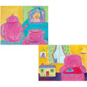Tea Time & My Room Stretched Art, Tea Party Artwork | tea party Wall Art | ABaby.com