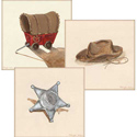 Western Stretched Art, Kids Nursery Canvas Wall Art - Ababy.Com