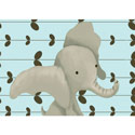 Edison the Elephant Canvas Wall Art, Girls Wall Art | Artwork For Girls Room | ABaby.com
