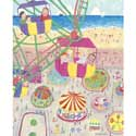 Seaside Carnival Stretched Art , Circus Fun Artwork | Circus Fun Wall Art | ABaby.com