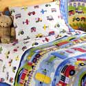 Trains, Planes And Trucks Toddler Bedding, Train And Cars Themed Nursery | Train Bedding | ABaby.com
