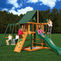 Overlook Swing Set, Kids Swing Sets | Childrens Outdoor Swing Sets | ABaby.com