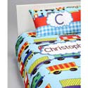 Personalized Train Bedding Set,