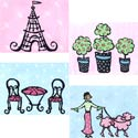 Paris Stretched Art, Girls Wall Art | Artwork For Girls Room | ABaby.com