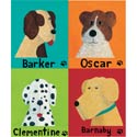 Personalized Dog Canvas Art, Kids Wall Art | Neutral Wall Decor | Kids Art Work | ABaby.com