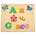 Personalized 2 Name Princess Puzzle