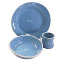 Personalized Kids Tipped Dish Set