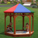 Play-Zee-Bo Sandbox, Outdoor Toys | Kids Outdoor Play Sets | ABaby.com