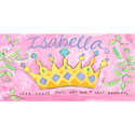 Princess Crown Canvas Wall Art, Personalized Kids Wall Art | Personalized Wall Decor | ABaby.com