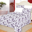 Full Purple Floral Printed Sheet Set
