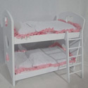 Doll Bunk Bed with Bedding, Baby Doll House | Accessories | Doll Furnitutre Sets