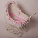 Isabella Large Play Pram, Baby Doll House | Accessories | Doll Furnitutre Sets