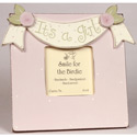 It's a Girl Picture Frame, Kids Bedroom Decor | Clocks | Baby Picture Frames | ABaby.com