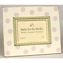 Pink Dots with Trim Picture Frame