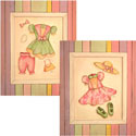 Dresses Artwork, Girls Wall Art | Artwork For Girls Room | ABaby.com