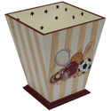 Varsity Waste Basket, Sports Nursery Decor | Sports Wall Decals | ABaby.com