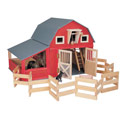 Red Gable Barn, Doll Houses | Playsets | Kids Doll Houses | ABaby.com