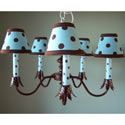 Blue Brown Dottie Chandelier, Nursery Lighting | Kids Floor Lamps | ABaby.com