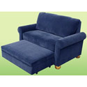 Sleep & Store Chair/Ottoman Combo, Upholstered Glider Rocker | ABaby.com