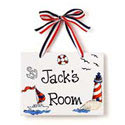 Sailor Name Plaque, Nautical Themed Nursery | Nautical Bedding | ABaby.com