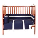 Solid Stripe Porta Crib Bedding