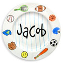 Sports Name Plate, Sports Nursery Decor | Sports Wall Decals | ABaby.com