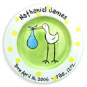 Stork Birth Plate, Wall Plaque | Kids | Nursery | ABaby.com