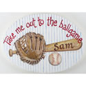 Ballgame Name Plaque, Sports Nursery Decor | Sports Wall Decals | ABaby.com