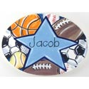 Hand Painted Sports Name Plaque, Sports Nursery Decor | Sports Wall Decals | ABaby.com