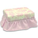 Ruffled Footstool, Kids Chairs | Personalized Kids Chairs | Comfy | ABaby.com