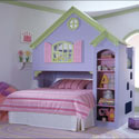 Dollhouse Bed, Childrens Beds | Girls Twin Bed | ABaby.com