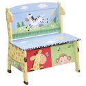 Sunny Safari Storage Bench, Kids Toy Boxes | Personalized Toy Chest | Bench | ABaby.com