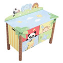 Sunny Safari Toy Box, Kids Toy Boxes | Personalized Toy Chest | Bench | ABaby.com