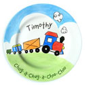 Train Name Plate, Baby Birth Plates | ABaby.com