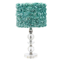 Turquoise Rose Garden Crystal Tower Lamp