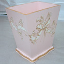 Floral Bow Wastebasket, Kids Shelves | Baby Wall Shelves | Nursery Storage | ABaby.com