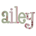 Vintage Garden Whimsical  Letters, Customized Wall Letters | Childrens Wall Letters | ABaby.com