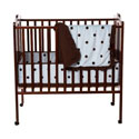 Espresso Dots Porta Crib Bedding Set, Portable Crib Bedding Sets | Mini Crib Bedding Sets | ABaby.com