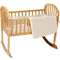Organic Cotton Velour Cradle Bedding Set, Cradle Accessories | Bedding For Cradles | ABaby.Com