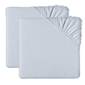 Set of 2 Jersey Knit Porta Crib Sheets, Portable Crib Sheet Sets| Organic Mini Crib Sheets