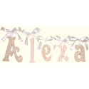 Alexa Glitter Wall Letters, Customized Wall Letters | Childrens Wall Letters | ABaby.com