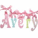 Avery's Glitter and Sparkle Wall Letters, Ribbon Letter | Hanging Wall Letters With Ribbon | ABaby.com