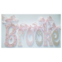 Brooke's Glittery Wall Letters, Wall Letter Decals | Custom Baby Name Letters for Nursery Wall