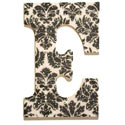 Black and White Damask Glitter Letters, Kids Wall Letters | Custom Wall Letters | Wall Letters For Nursery