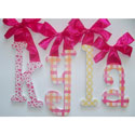 Kyla's Summer Fun Glitter Wall Letters, Ribbon Letter | Hanging Wall Letters With Ribbon | ABaby.com