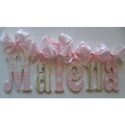 Malena's Sparkle Wall Letters, Ribbon Letter | Hanging Wall Letters With Ribbon | ABaby.com