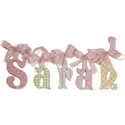 Sarah Glitter Wall Letters, Ribbon Letter | Hanging Wall Letters With Ribbon | ABaby.com